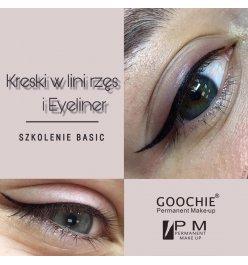 Kreski w linii rzęs + Eyeliner Basic