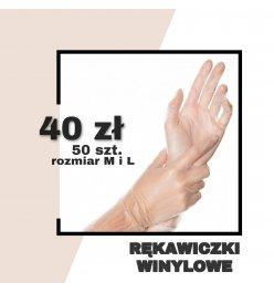 Rękawice winylowe - 50szt.
